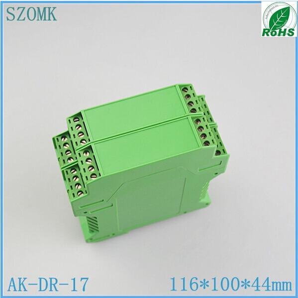 10 piece/ lot, szomk plastic din rail project enclosure 116*100*44mm plastic PLC green enclosure box спот ideal lux lunare ap2 bianco