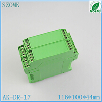 10 piece/ lot, szomk plastic din rail project enclosure 116*100*44mm plastic PLC green enclosure box