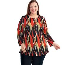 Women's Bohemian Orange Plus Size Loose Top
