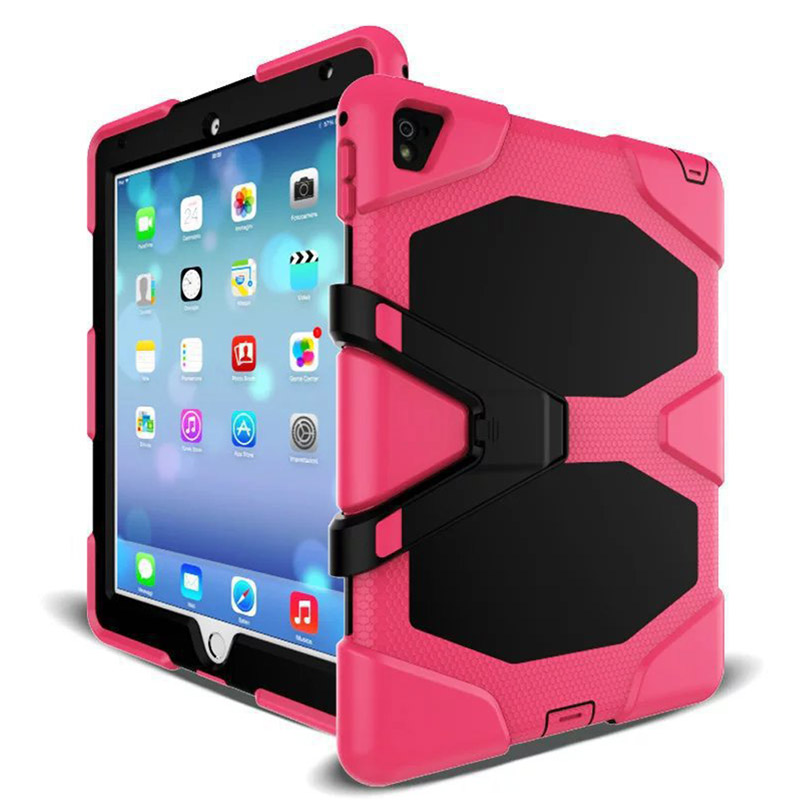 Tablet Case For iPad Mini 1 2 3 Waterproof Shock Dirt Snow Sand Proof Extreme Army Military Heavy Duty Kickstand Cover Case (4)