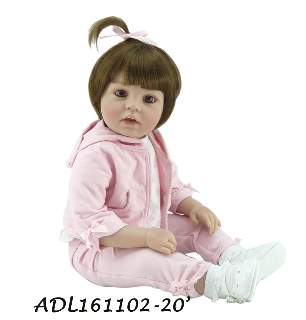 55 cm Reborn Baby Doll 22 Inch Realistic Real Looking Silicone Adora Toddler Reborn Babies Girl Doll Fashion Kids Brinquedos adora toddler doll soft silicone reborn baby doll cute 20 inch 52cm baby reborn for kids birthday giftbaby reborn
