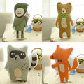 100% Brand New Funny and Fashion Cartoon Cotton Linen Pillow Doll for Sofa Office Back Cushion Baby Room Decorative