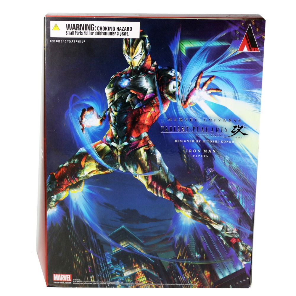 Square Enix Marvel Iron Man Variant Play Arts Kai 9.8 Action Figure PAK001015