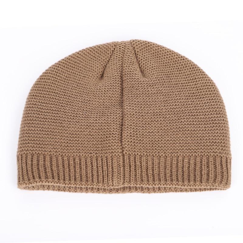 New winter knit hats men's and women's outdoor warm thickening plus velvet loose winter caps Skullies brand winter ski male bone 5