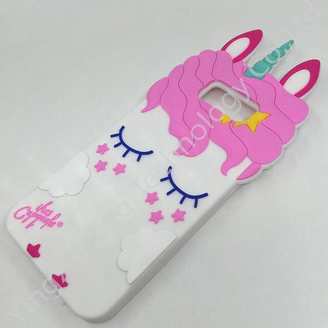 New 3D Cute Unicorn Ears Case For Samsung Galaxy S8 Plus S7 Edge S6 Cartoon Unicorns Horse Soft Silicone Phone Back Fundas Cover