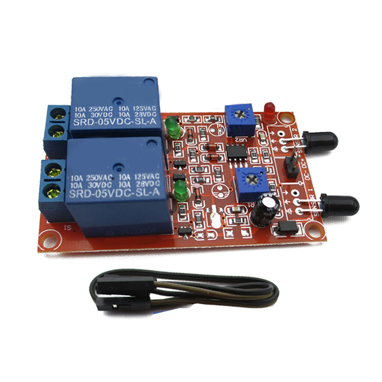 2 way flame sensor module relay module two in one flame flame detection fire alarm two