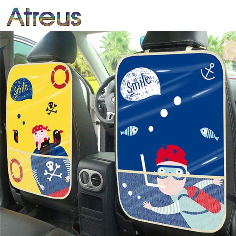 Niños Kick Mat asiento Protector de cubierta para Subaru XV Kia Rio 4 Ceed Cerato Sorento Mazda 3 Mini Cooper R56 F56 Accesorios