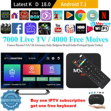 TTVBOX MX Pro 4K Android TV Box IPTV Android 7.1 OS 1GB 8GB RK3229 4K 2.4GHz WIFI Quad Core Smart TV Box đa Phương Tiện(China)