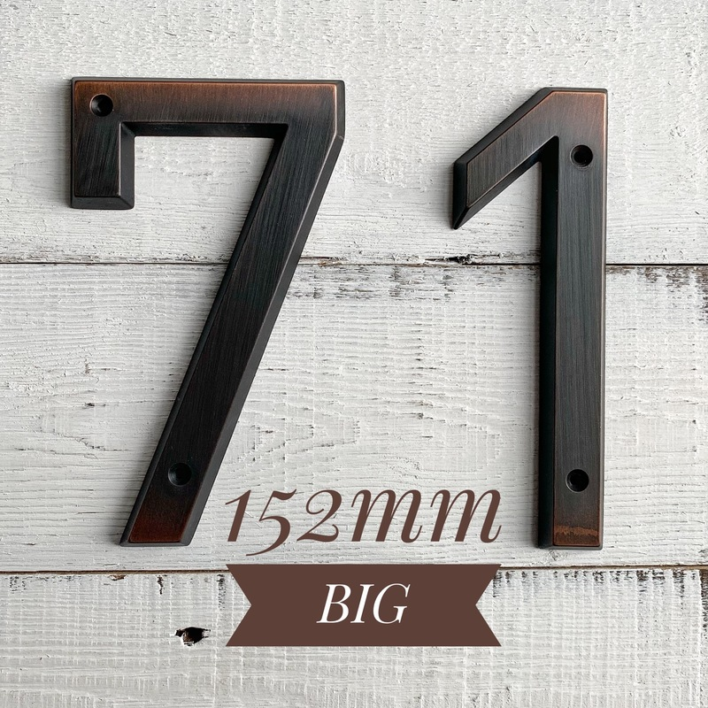 Aged Bronze 152mm Very Big House Number Door Address Number Zinc Alloy Screw Mounted Outdoor Address Sign #0-9