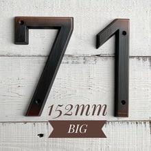 цены на Aged Bronze 152mm Very Big House Number Door Address Number Zinc Alloy Screw Mounted Outdoor Address Sign #0-9  в интернет-магазинах