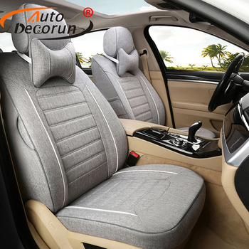 AutoDecorun Customized Flax Seat Cushions for Mercedes Benz GLS Class Accessories Seat Covers for Cars Seat Supports Protectors