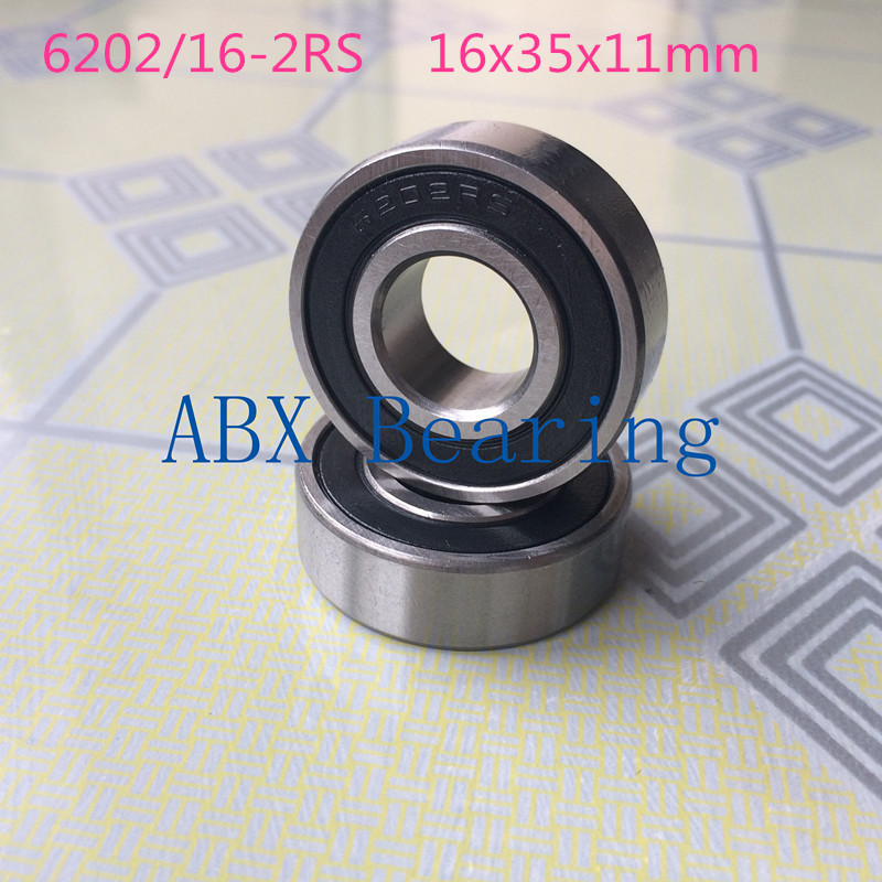 цена на 16mm ball bearings 6202-16 2RS 6202/16-2RS 6202 bearing 16X35X11 mm CNC,Motors,Machinery,AUTO 16*35*11
