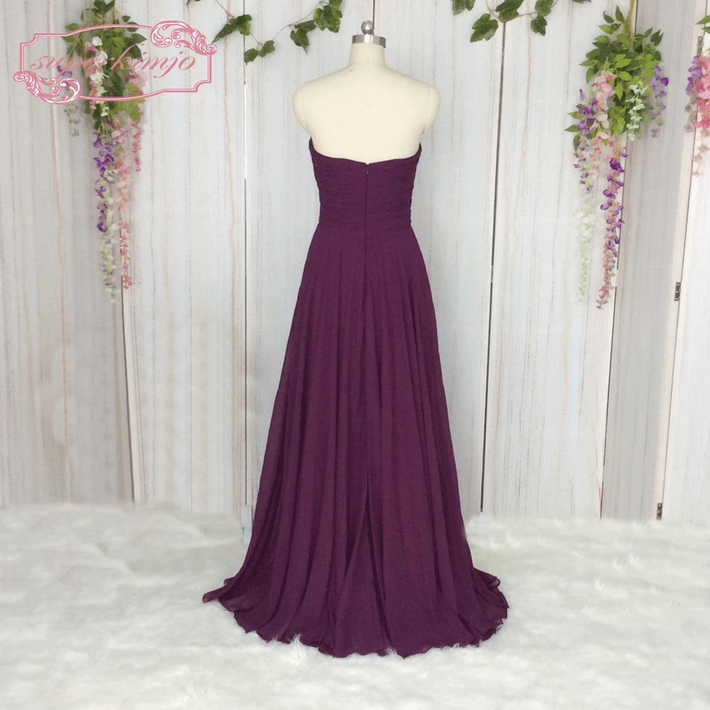 Superkimjo adultos boda Vestidos 2018 una línea barato púrpura ...