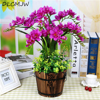 Artificial flowers Fake butterfly orchid Bonsai Desktop Decor Silk Orchid Artificial Plant flowers For Wedding Home decor Orchi