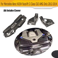 C Class Carbon Fiber Car Cold Air Filter Intake System Cover For Mercedes Benz W204 Facelift