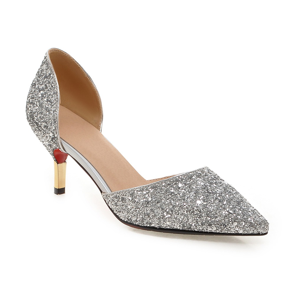 QZYERAI New 2018 womens spring and summer high heels metal heels and womens shoes sexy womens casual shoes big size 34-43