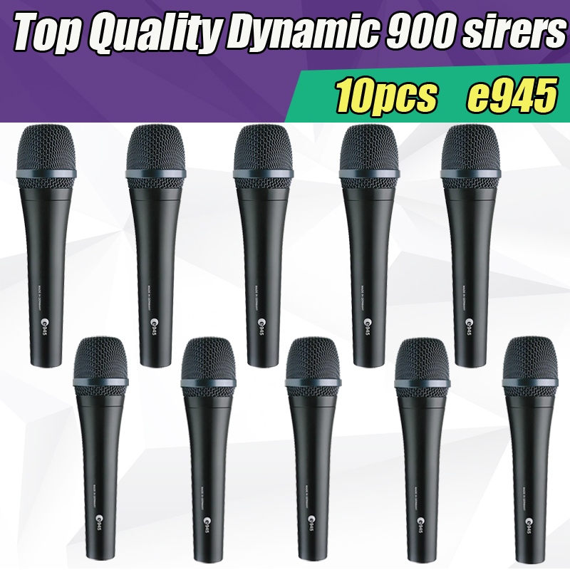 все цены на Free Shipping 10pcs/lots Top Quality E945 Dynamic Super Cardioid Karaoke Vocal Wired Microphone microfone e 945 Lead Vocal Stage