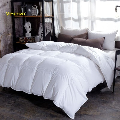 Vescovo Cotton fabric filled with 100 Goose Down Warm silky winter three colors comforter Twin Queen