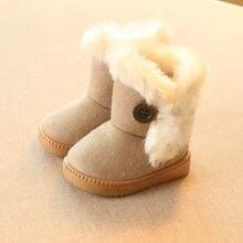 Снега замши толстые пряжки зимой ботинки мягкой сапоги ес теплые девочки