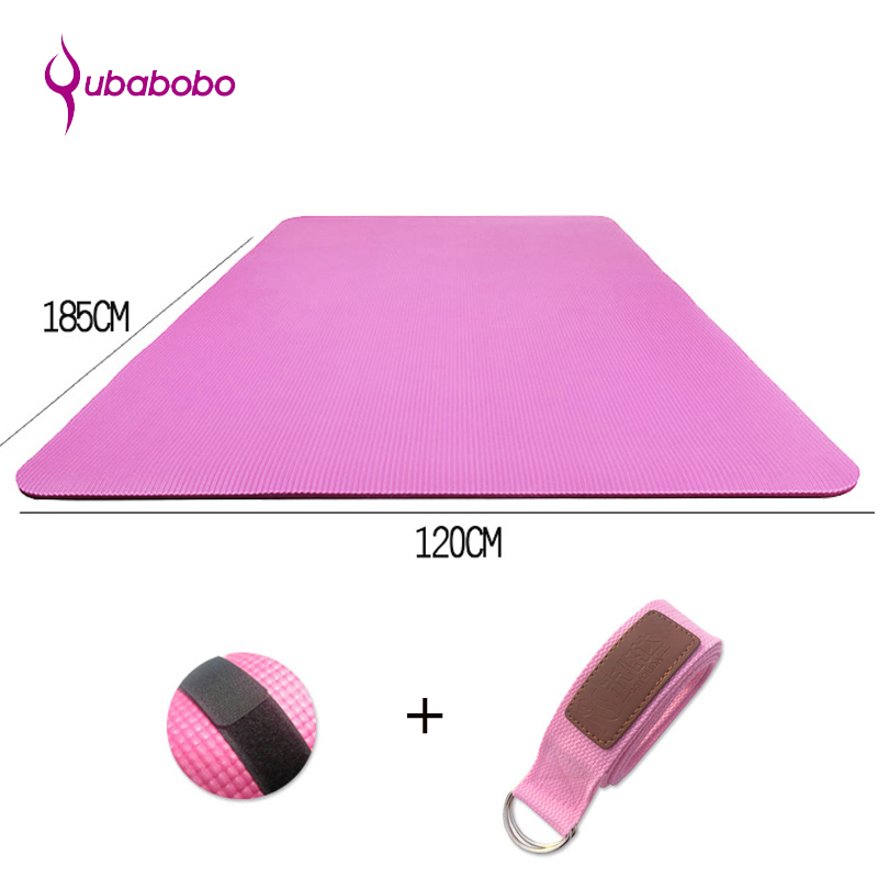 QUBABOBO 20 MM NBR anti-dérapant Double tapis de Yoga Fitness Pilates/Pad Yoga Gym Sport exercice tapis de Camping en plein air (185*120*2.0 cm)