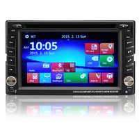 2 DIN 6.2 Inch Universal Car DVD Player Windows CE 6.0 OS, 800x480 Resolution, GPS, iPod/iPhone Support, RDS, Bluetooth