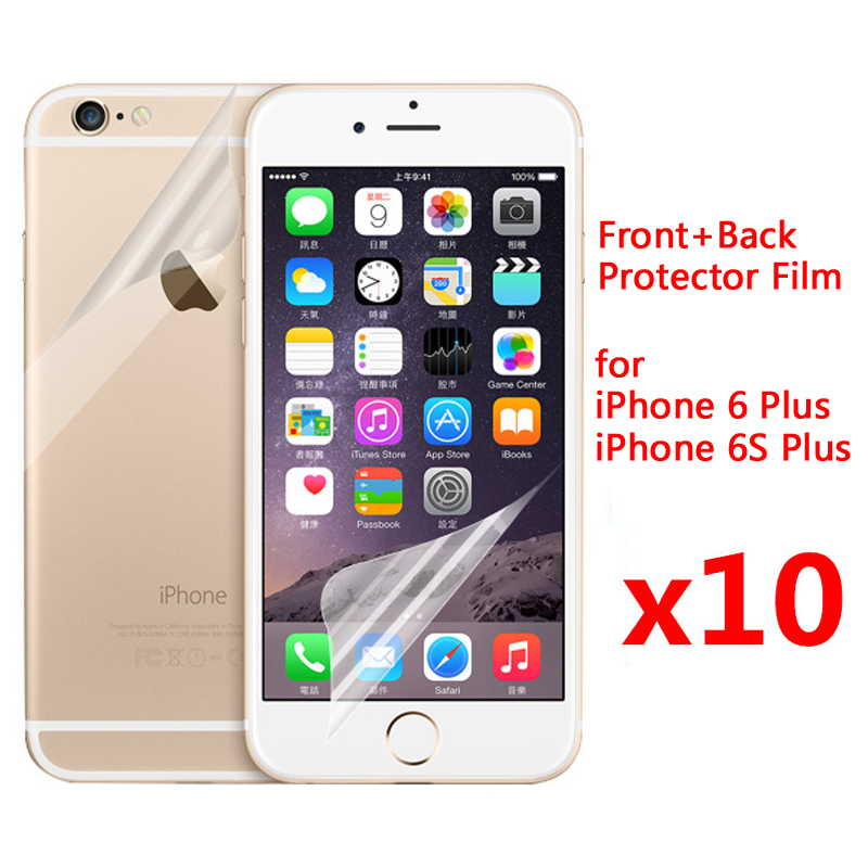 10pcs Front + 10pcs Back Clear glossy Screen Protector For iphone 4 4S 5S  SE 6 6s 6P 6sPlus Guard Protector Film Scren Protector-in Phone Screen  Protectors ... 37cd558650