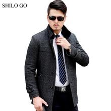 5XL New Mens Winter Grey Jacket Coats Thick Parkas Plus Size Real Mink Collar Mink Fur Lining Business Outwear Fur coat
