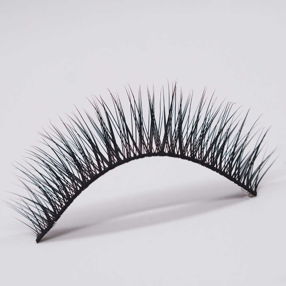 c56fada3988 ... 5 Pairs Cross Lengthen Cheap False Eyelashes Natural Looking Fake  Lashes Eye Makeup ...