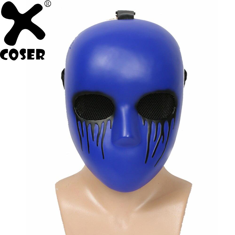 XCOSER Eyeless Martinetti Viola Scuro Cosplay Maschera di Resina di Alta Qualità Maschera di Festa Festa di Halloween Del Partito di Cosplay Accessori Maschere