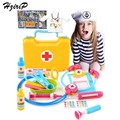 HziriP New Children's Play Doctor Sets Pretend Play Children Simulation Medicine Toolbox Stethoscope Injections Doctor Baby Toy