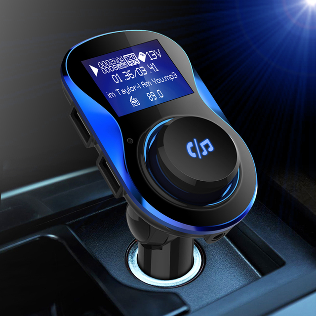 Car MP3 Player with Bluetooth, FM Transmitter Radio, Dual USB Charger