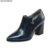 Brand autumn women Pumps Genuine Leather Autumn 2019 High Heels Shoes Woman Ol Work Shoes