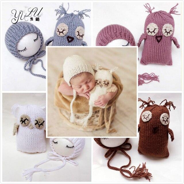 Häkeln Eule Puppen Baby Hut Handgemachte Neugeborenen Fotografie