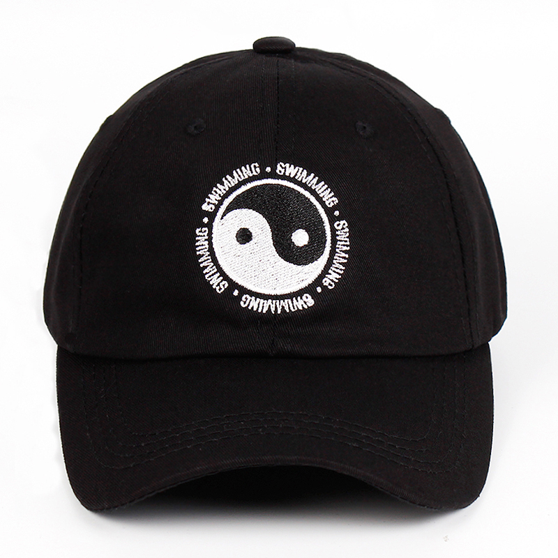 HTB19u2XXjDuK1Rjy1zjq6zraFXaU - Mac Miller Dad Hat 100% Cotton Swimming Yin and Yang Gossip Embroidered Hat Snapback Baseball Cap For Men And Women Dropship