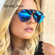 SHAUNA PU Leather Rivet 100% Polarized Sunglasses Women Ins