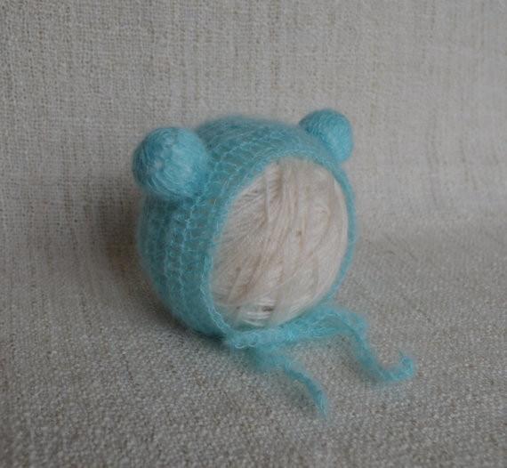 Cappello orsetto per bebè e bebè - Berretto animaletto lavorato a - Abbigliamento per neonato