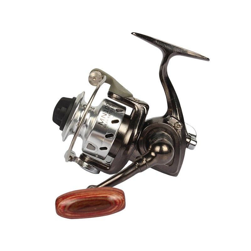 Goture mini mn100 carrete de pesca 4.3: 1 pequeña de metal spinning carrete izqu