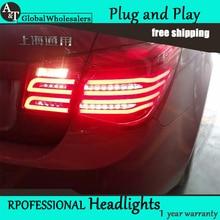 One-Stop Shopping Styling for Chevrolet Cruze Tail Lights New Cruze Sedan LED Tail Light GLK LED Rear Lamp DRL+Brake+Park+Signal