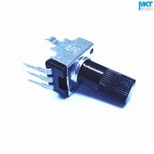 100 шт. 1K/10K/100K/50K/500K Ом Тип B линейный 12 мм вал под прямым углом стробомер потенциометра (B102/B103/B104/B503/B504)
