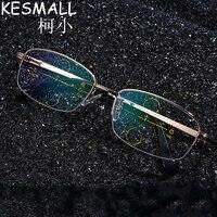 KESMALL Progressive Lens Reading Glasses Men Metal Frame Presbyopic Eyeglasses Fashion Glasses For Reading Leitura Homens