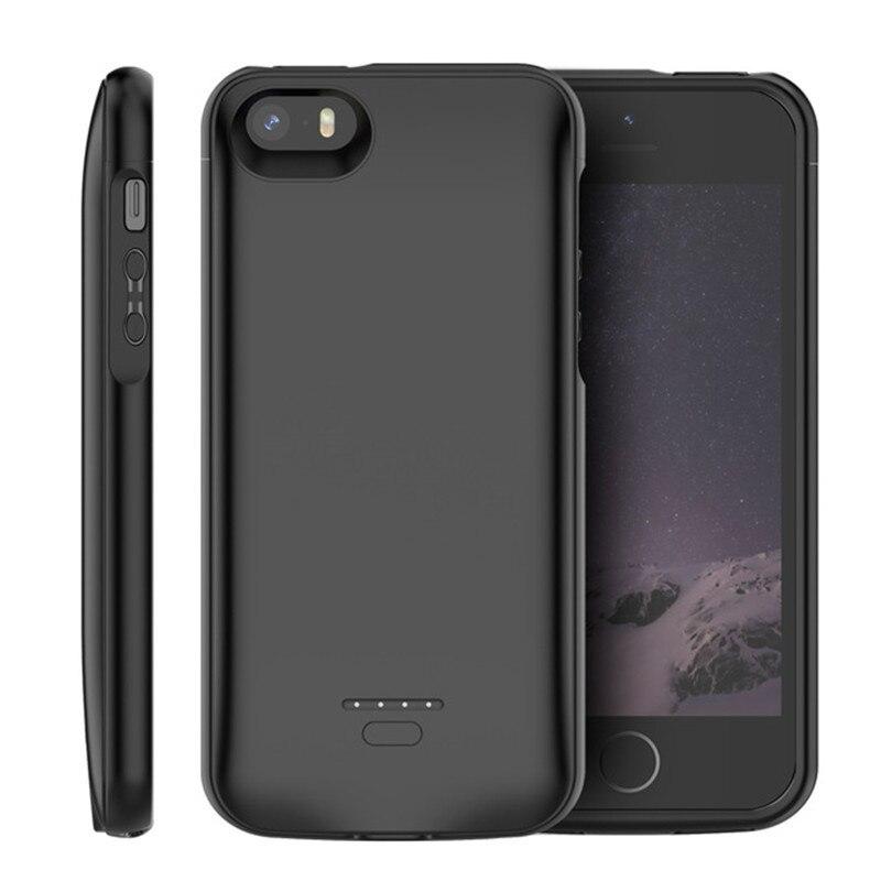 CASEWIN chargeur de batterie étui pour iPhone SE 5SE 5 5S 4000mAh batterie de charge Powerbank étui pour iPhone 5 6 7 8 X étui de batterie