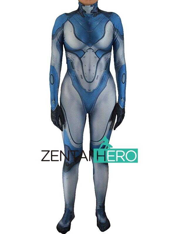 Free Shipping DHL 3D Printing Sarah Kerrigan Costume Lycra Superhero Game Costume Halloween Party Cosplay Zentai Catsuits