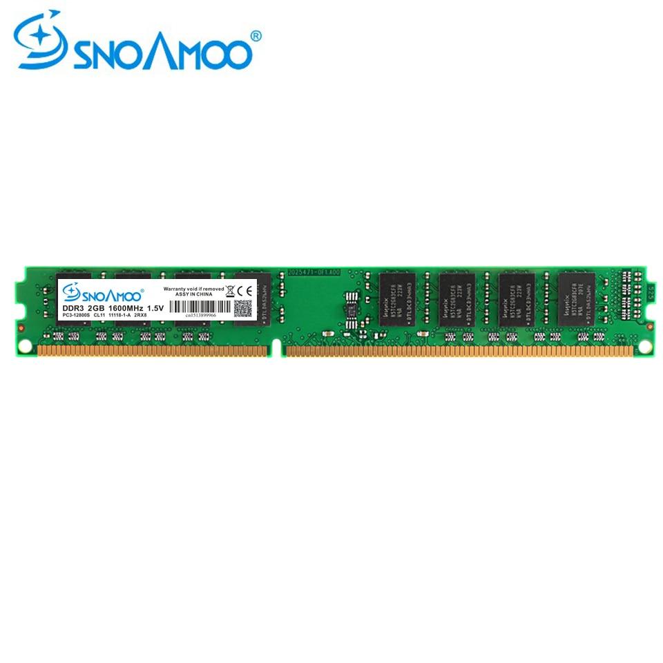 SNOAMOO Desktop PC RAMs DDR3 2 GB 1600 MHz PC3-12800S 1333 MHz PC3-10600S CL9 4 GB 1,5 V Computer Memory ARM Für Intel DIMM Garantie