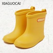 XiaGuoCai Kids Rain Boots Girls Boys children shoes Rainboots Loverly  Waterproof Overshoes Water Shoes Rubber Shoes k219 27