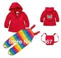 Бесплатная доставка - topom * ини девочки / малыша ветер пиджак и брюки, Ветрозащитный / водонепроницаемый костюм, Ветрозащитный комплект одежды