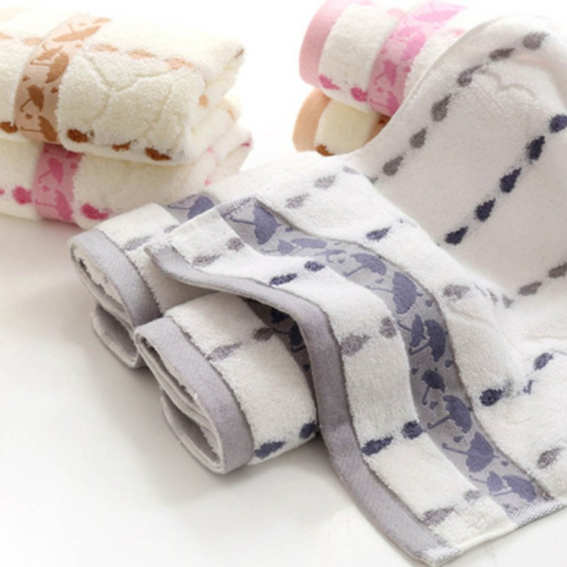 Hot Umbrella Cotton Towel Home Cleaning Face Bathroom Hand Hair Bath Beach Towel Kids Adult Commodity