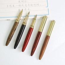 FangNymph, высокое качество, 0,7 мм, винтажная авторучка, палисандр и фонтан из латуни, ручка для деловых студентов, канцелярские принадлежности