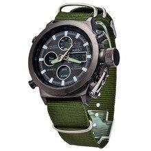 Los Hombres calientes Relojes de Marca de Lujo de Los Hombres de Cuarzo Horas Analógico Digital LED Reloj de Los Deportes de Los Hombres Del Ejército Militar Reloj de Pulsera Relogio Masculino