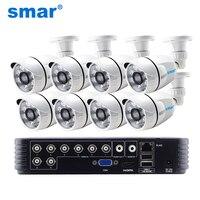 8CH 1080P HDMI выход DVR система AHD CCTV шт. 8 шт. 1.0MP/2.0MP Открытый камера P2P видео охранных наблюдения комплект из металла