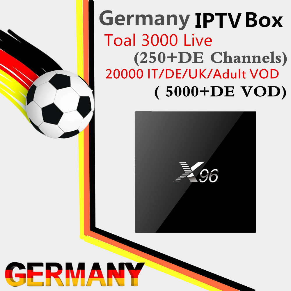 X96 Android TV Box Amlogic S905 2G/16G Swiss German UK Italy France 3000 IPTV Live&20000 DE/FR/IT/UK/Adult VOD Smart iptv box beelink mini mx ver 1 0 tv box android 5 1 2g 16g amlogic s905